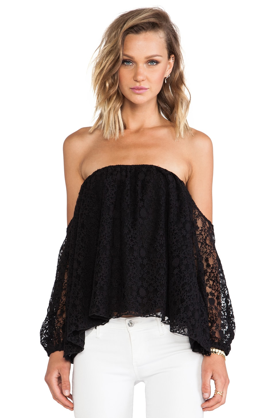 Boulee Audrey Top in Black Lace