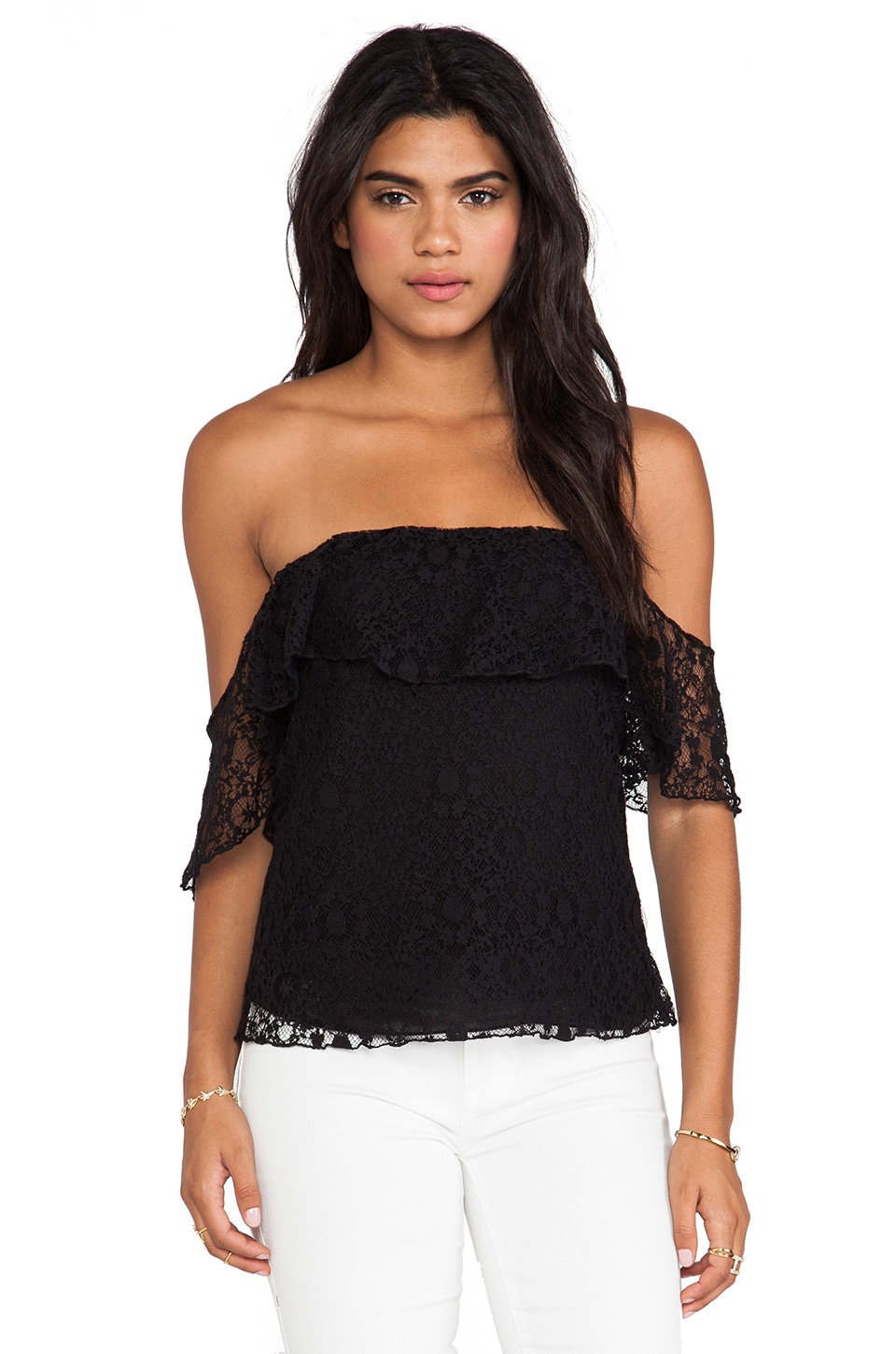 Boulee Emily Top in Black Lace