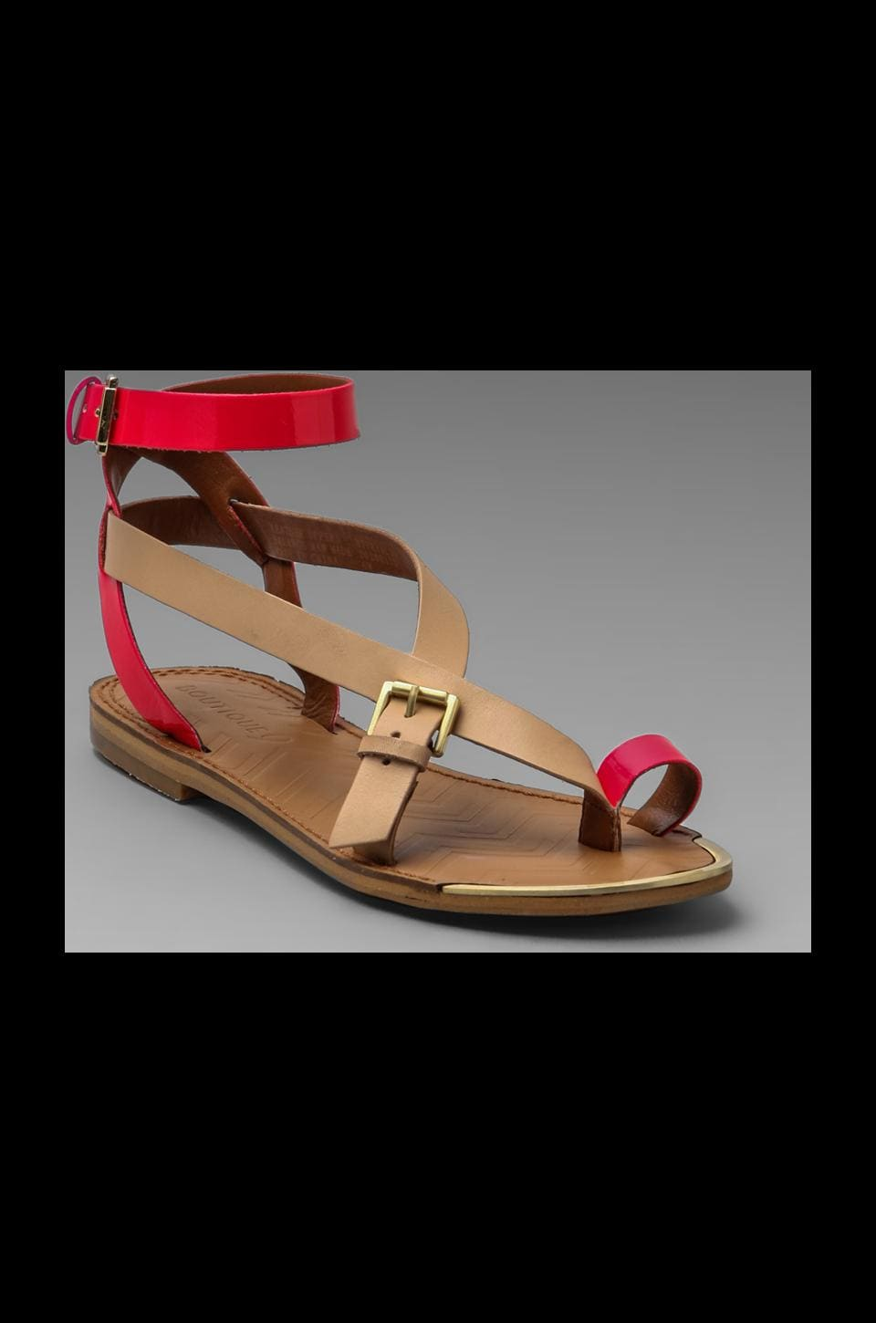 Boutique 9 Strappy Sandal in Natural/Pink
