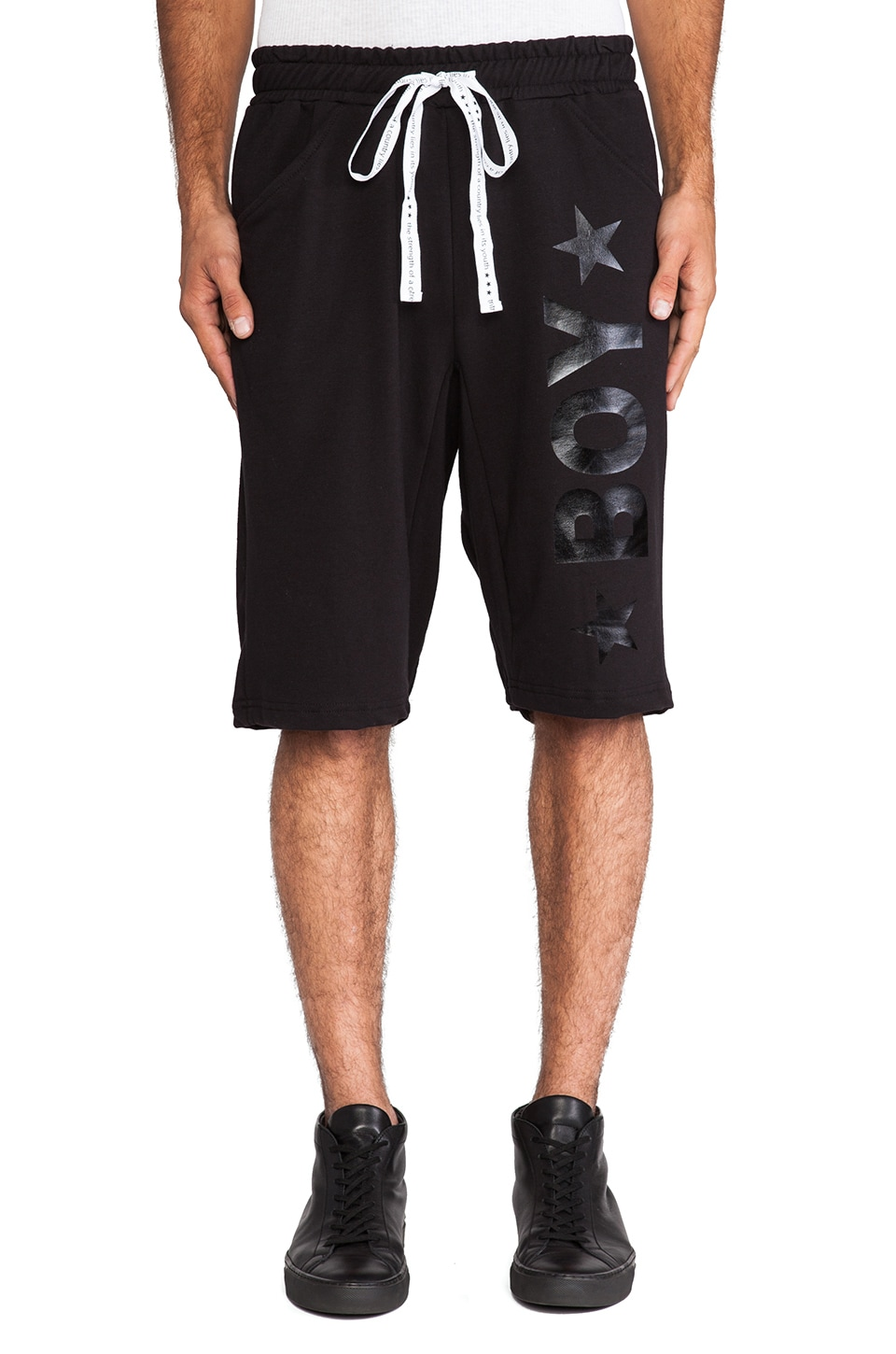 BOY London Lounge Short in Black &  Black