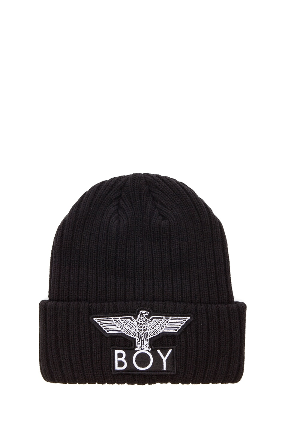 BOY London Cuffed Boy Beanie in Black