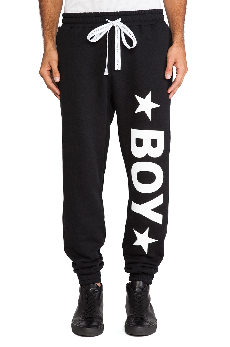 BOY London Standard Sweatpants in Black