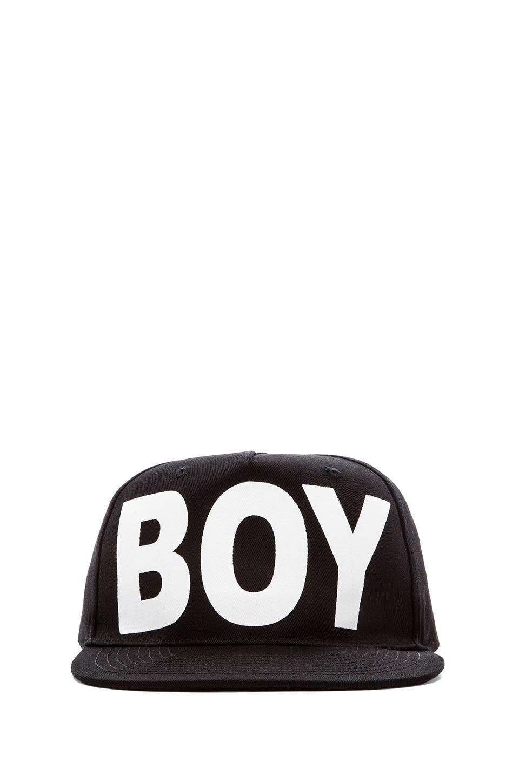 BOY London Boy Cap in Black/ White