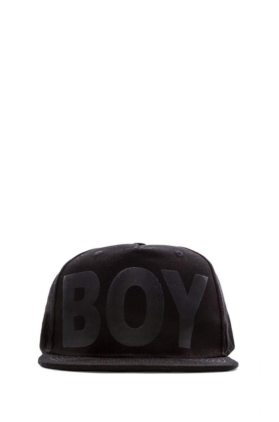 BOY London Boy Cap in Black/ Black