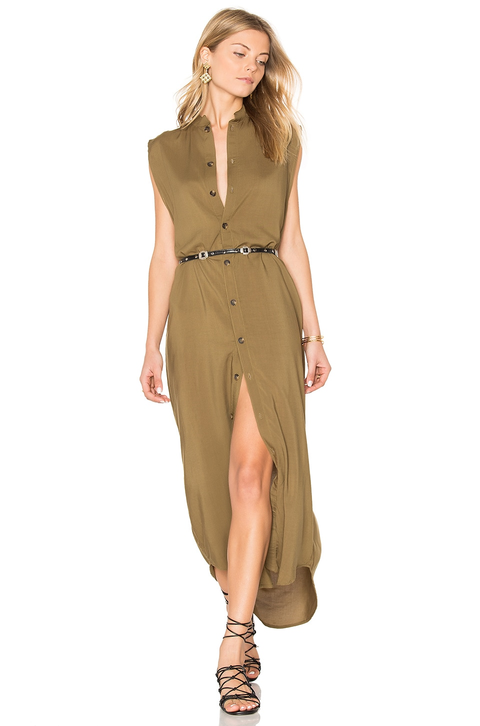 BOYS + ARROWS Im Not A Dress Dress Maxi in Army