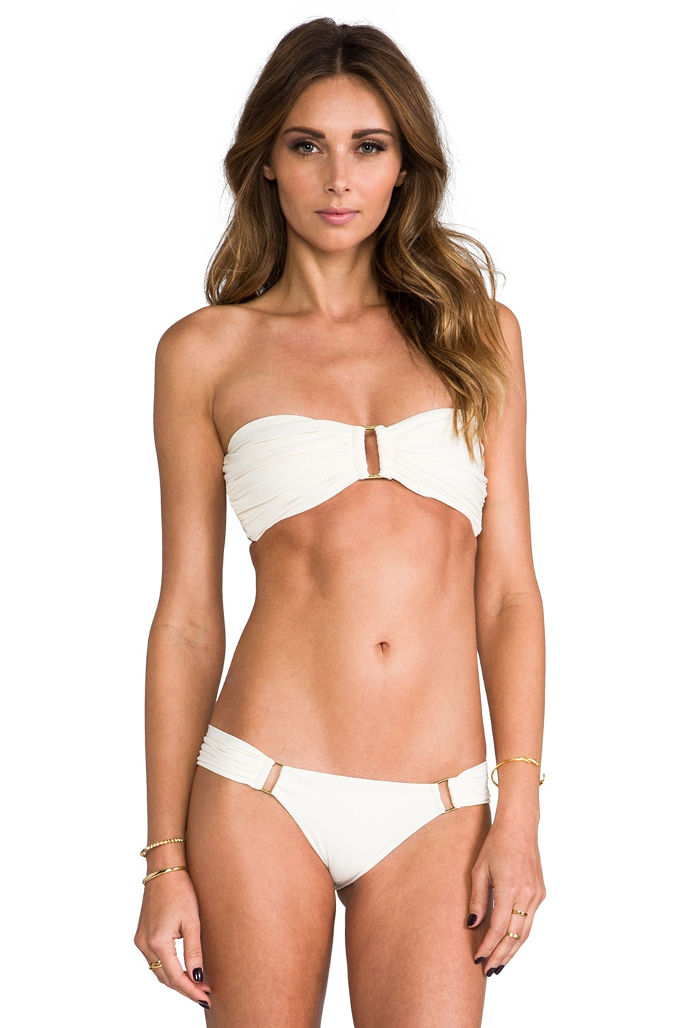 BOYS + ARROWS Olivia the Outlaw Bandeau Top in Coconut
