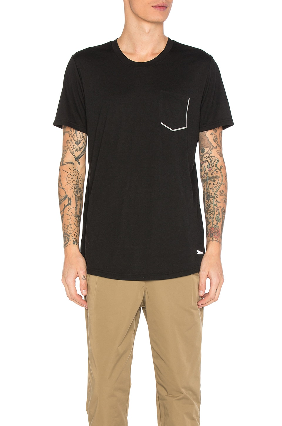 Tech Reflective Chest Pocket Tee by Brandblack