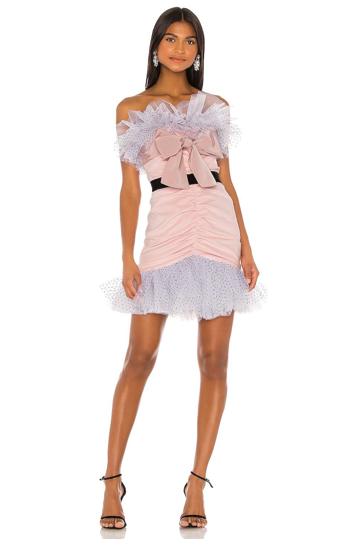 BROGNANO Ruffle Dress in Pink