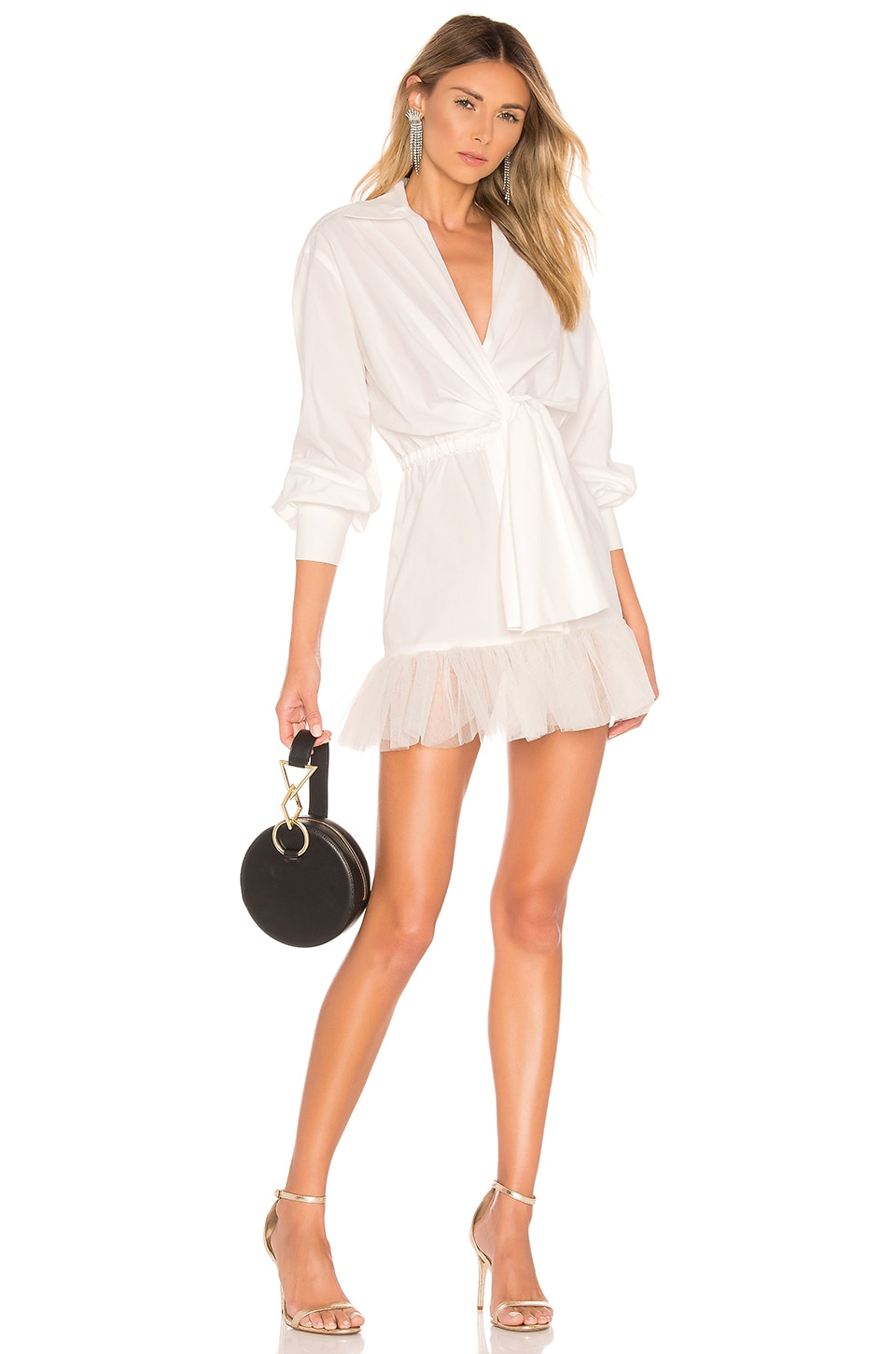 BROGNANO Shirt Dress in White