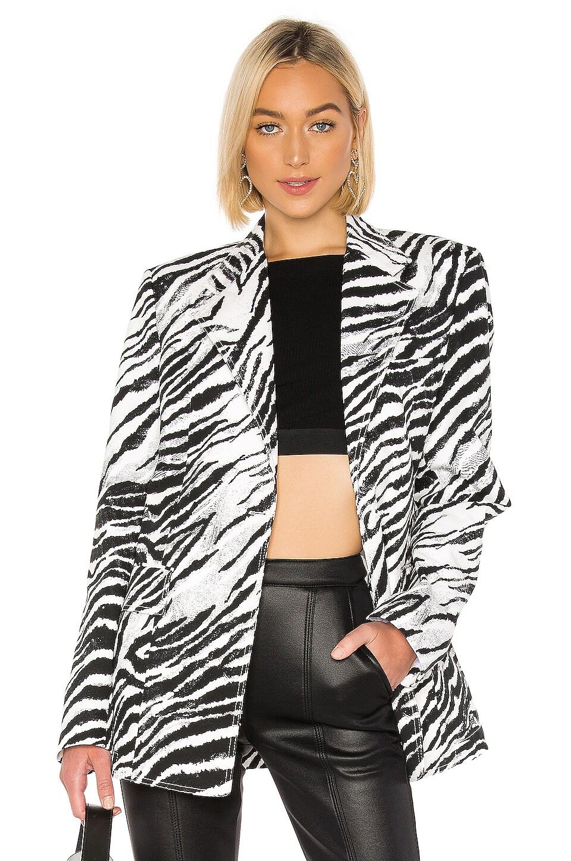 BROGNANO Zebra Blazer in Black & White