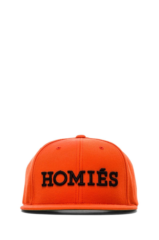 Brian Lichtenberg Homies Embroidered Caps in Orange/Black