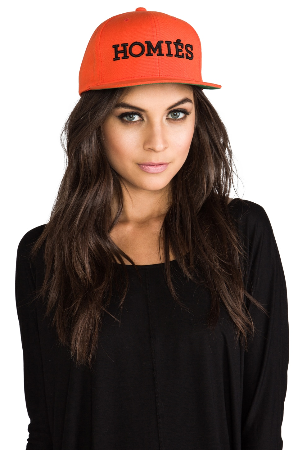 Brian Lichtenberg Homies Embroidered Caps in Orange/Black