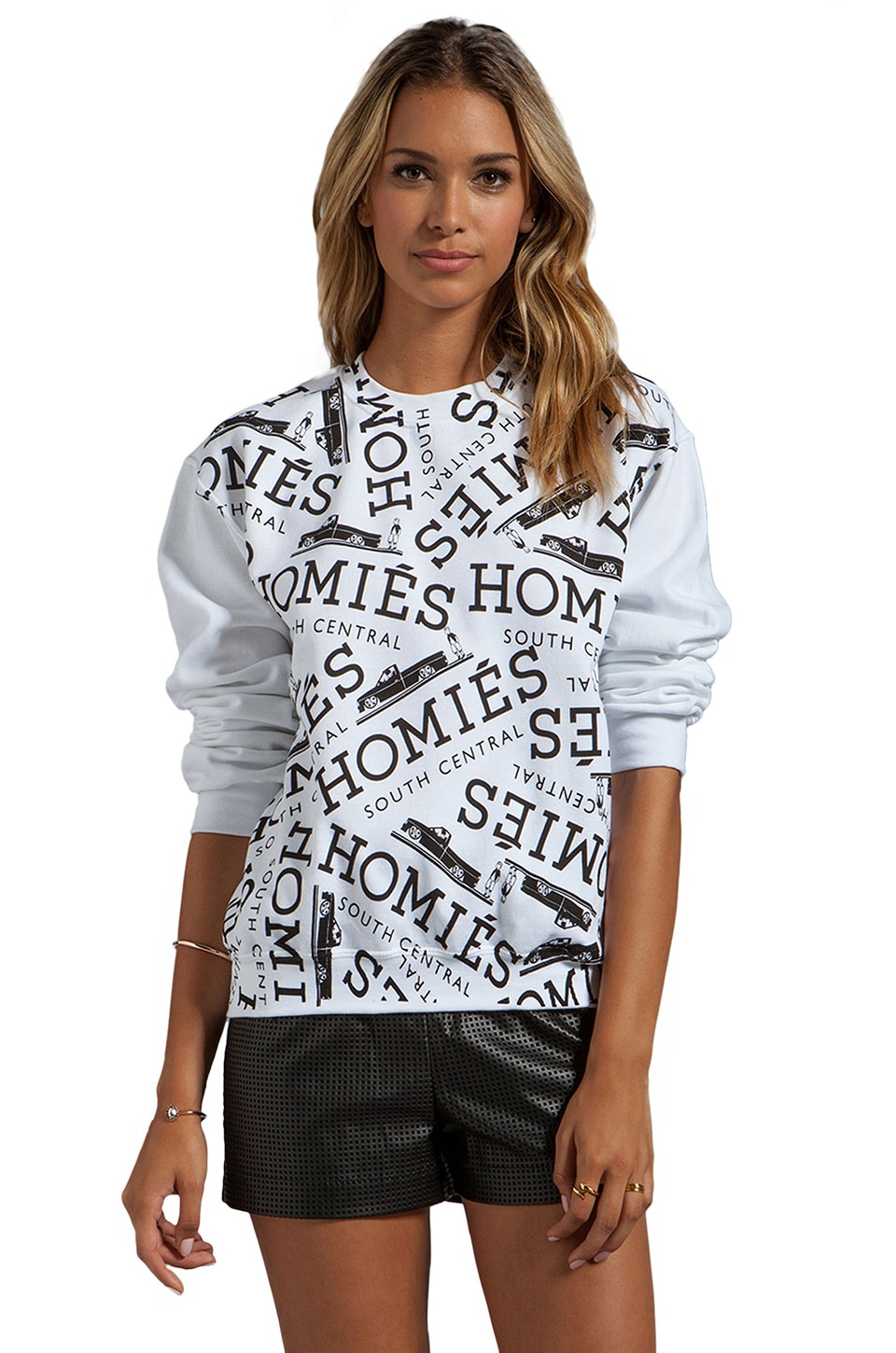Brian Lichtenberg Graffiti Sweatshirt in White/Black