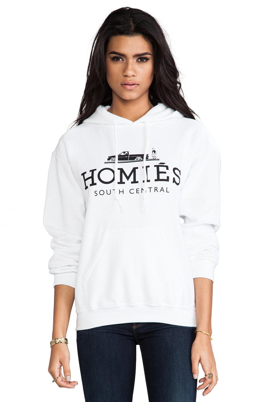 Brian Lichtenberg Homies Pullover Hoodie in White/Black
