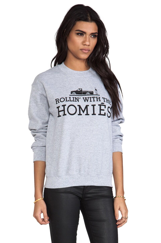 Brian Lichtenberg Rollin' with the Homies Sweatshirt in Heather Grey/Black