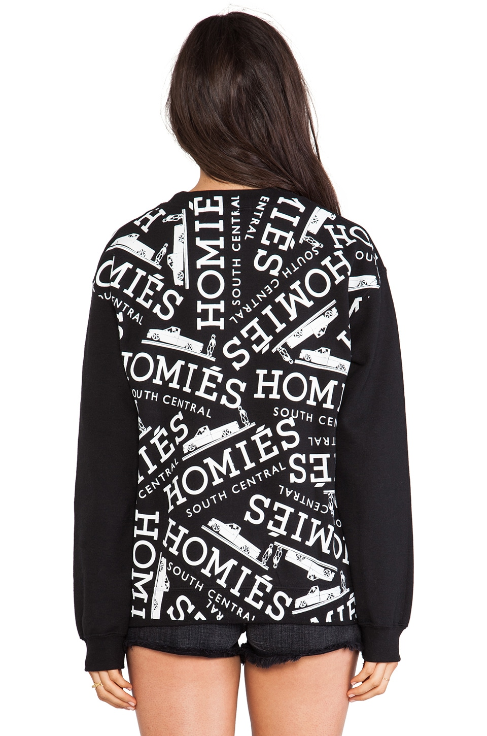 Brian Lichtenberg Homies Graffiti Sweatshirt in Black/White