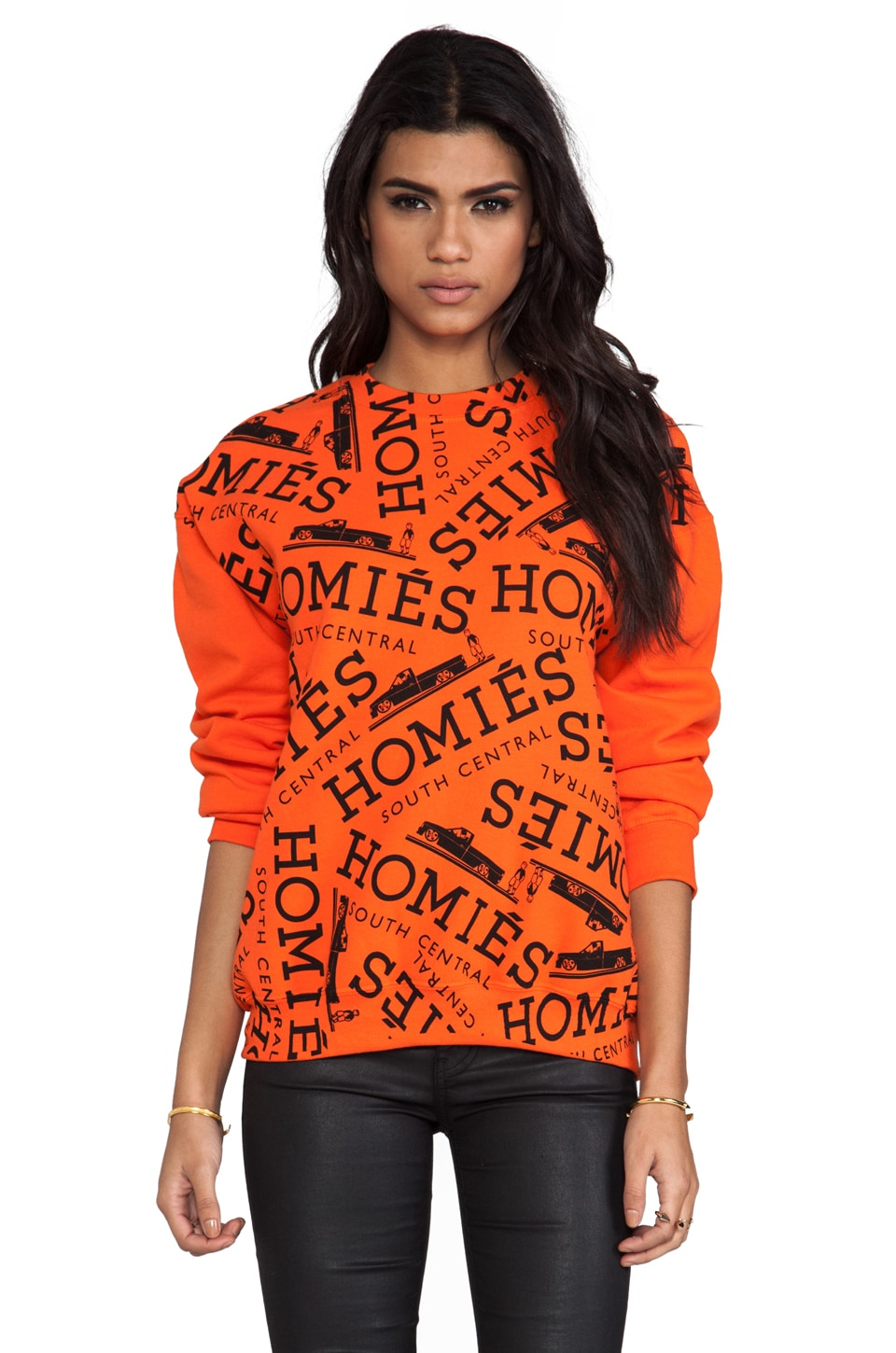 Brian Lichtenberg Homies Graffiti Sweatshirt in Orange/Black