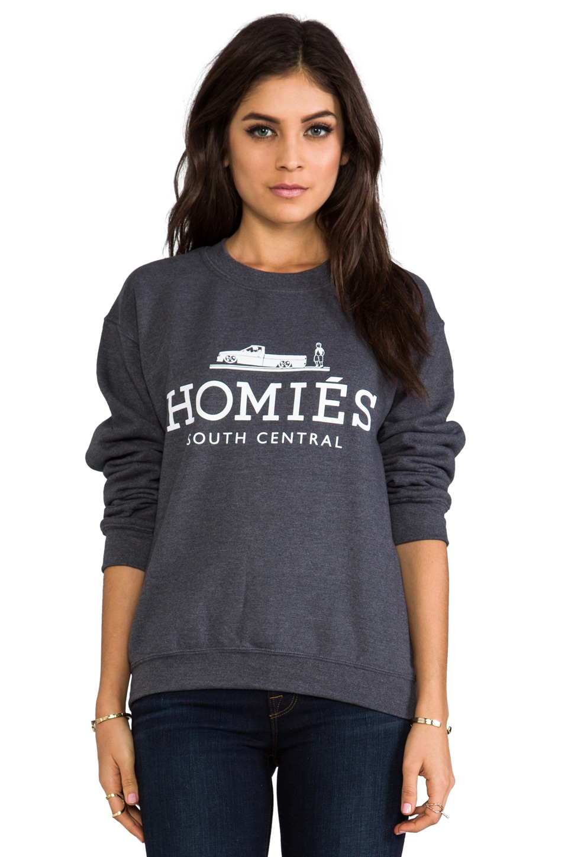Brian Lichtenberg Homies Unisex Sweatshirt in Charcoal/White
