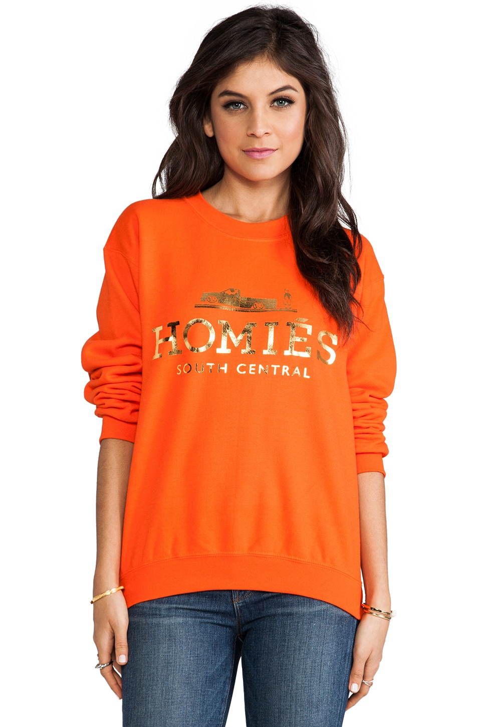 Brian Lichtenberg Homies Sweatshirt in Orange/Gold-Foil
