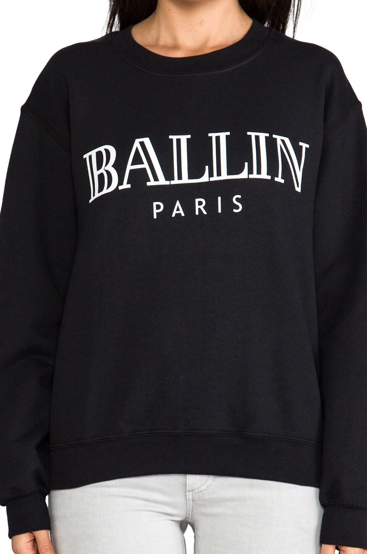 Brian Lichtenberg Ballin Sweatshirt in Black/White