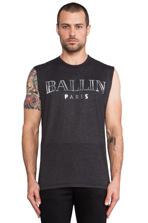 Brian Lichtenberg Ballin Muscle Tee in Charcoal & Silver