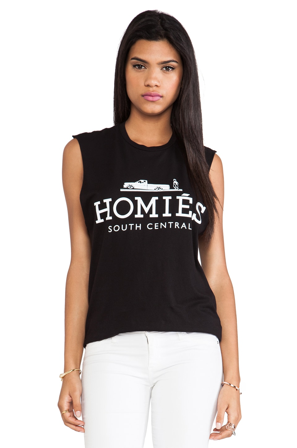 Brian Lichtenberg Homies Muscle Tee in Black & White