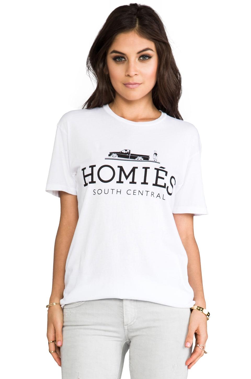 Brian Lichtenberg T-shirt Homies en Blanc/Noir