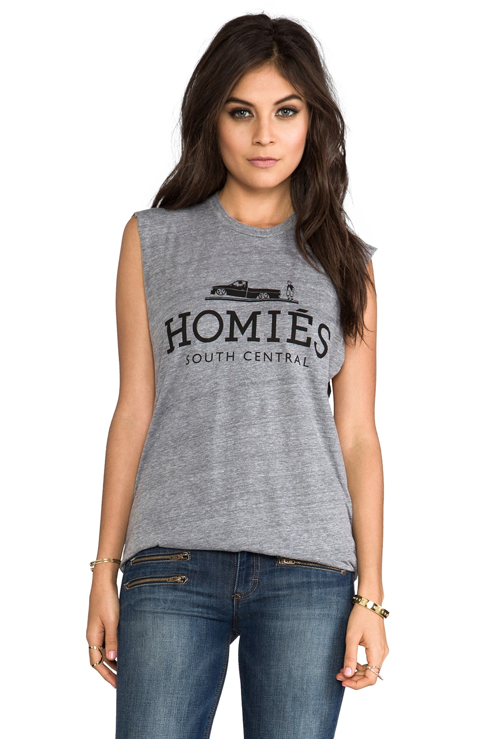 Brian Lichtenberg Homies Muscle Tee in Heather Grey/Black