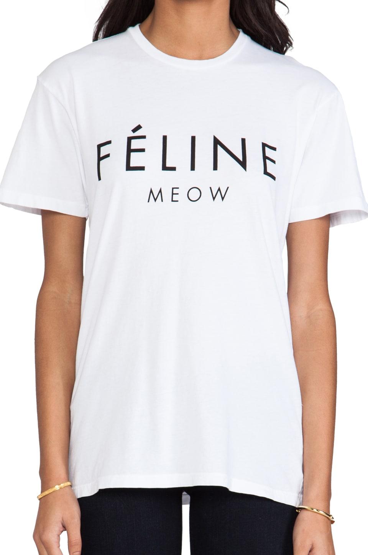 Brian Lichtenberg Feline Tee in White/Black