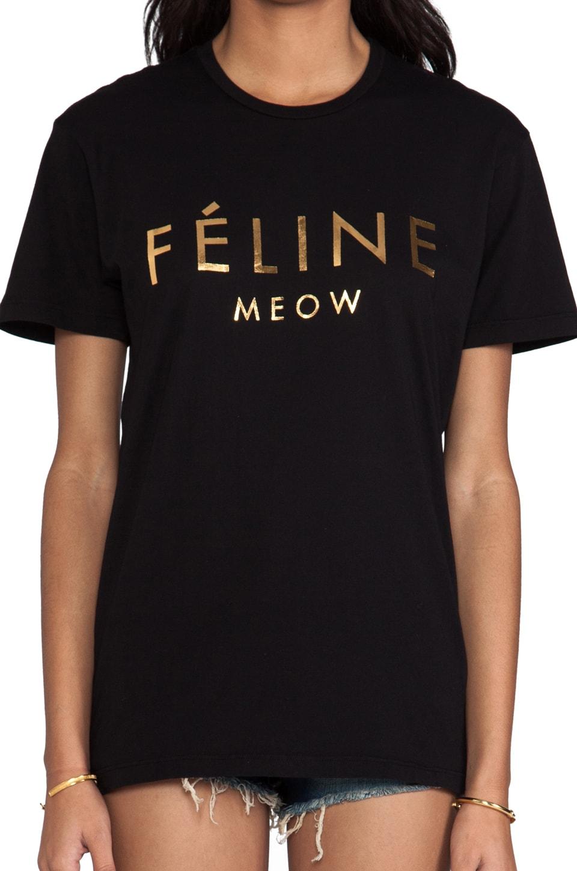 Brian Lichtenberg T-shirt Feline en Noir/Doré