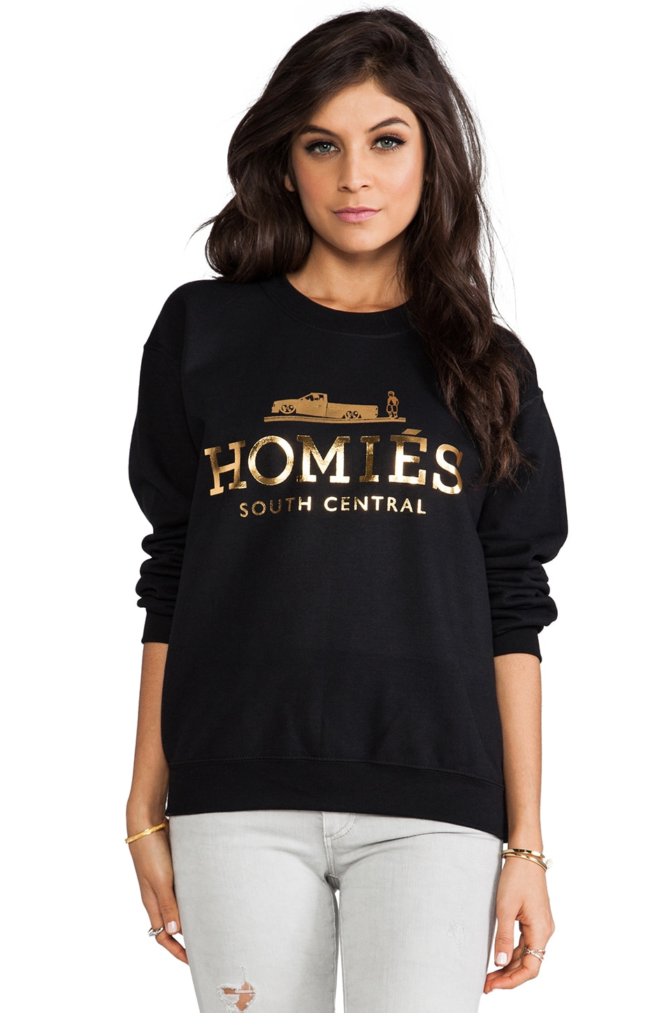 Brian Lichtenberg Homies Sweatshirt in Black/Gold