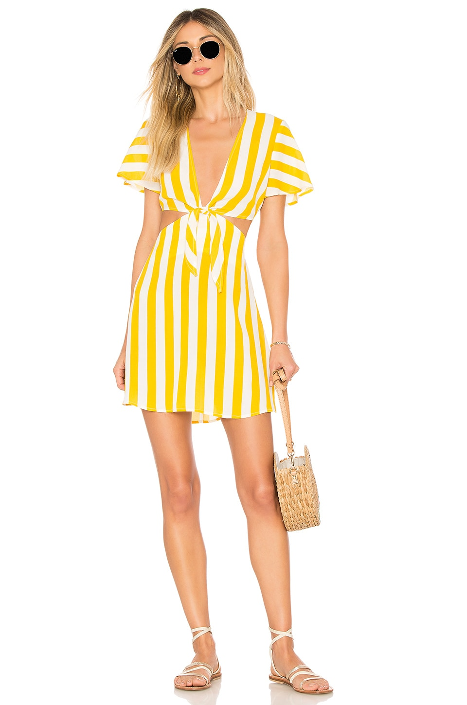 BEACH RIOT x REVOLVE Charlotte Dress in Yellow Stripe
