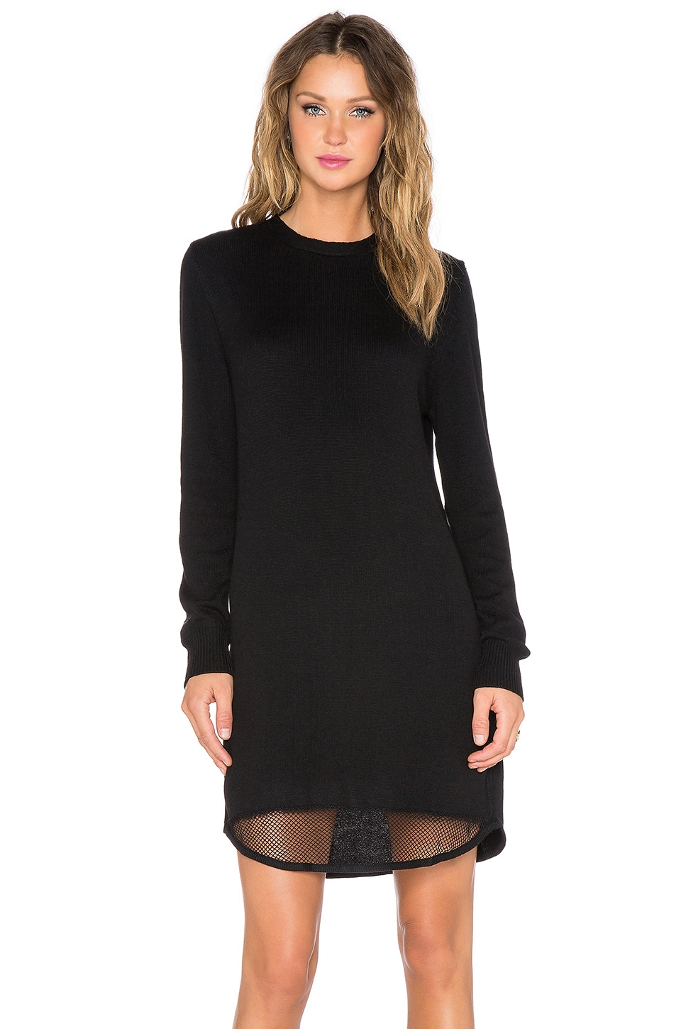 BEACH RIOT Mamacita Sweater Dress in Black