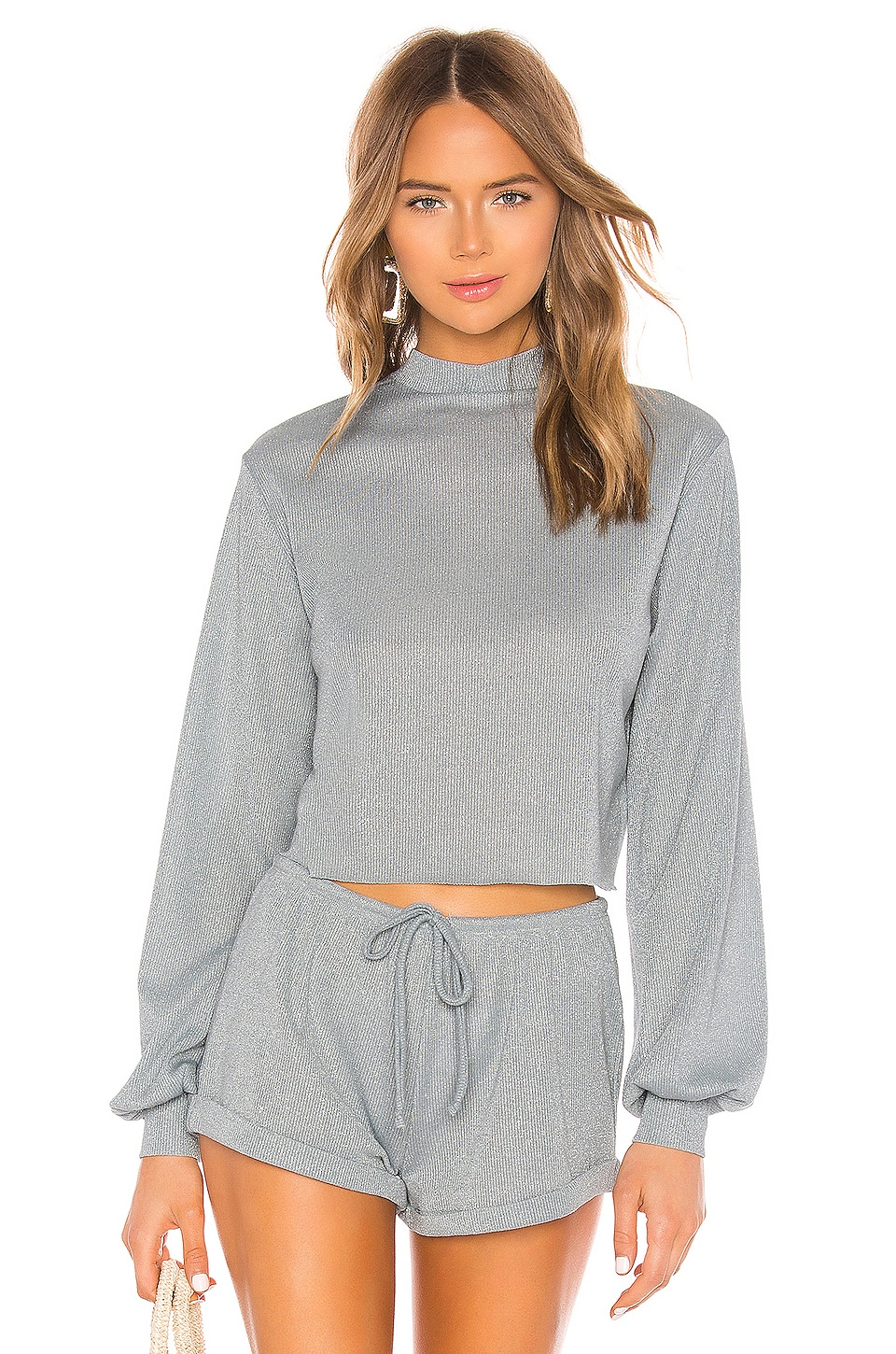 BEACH RIOT Sweater in Silver