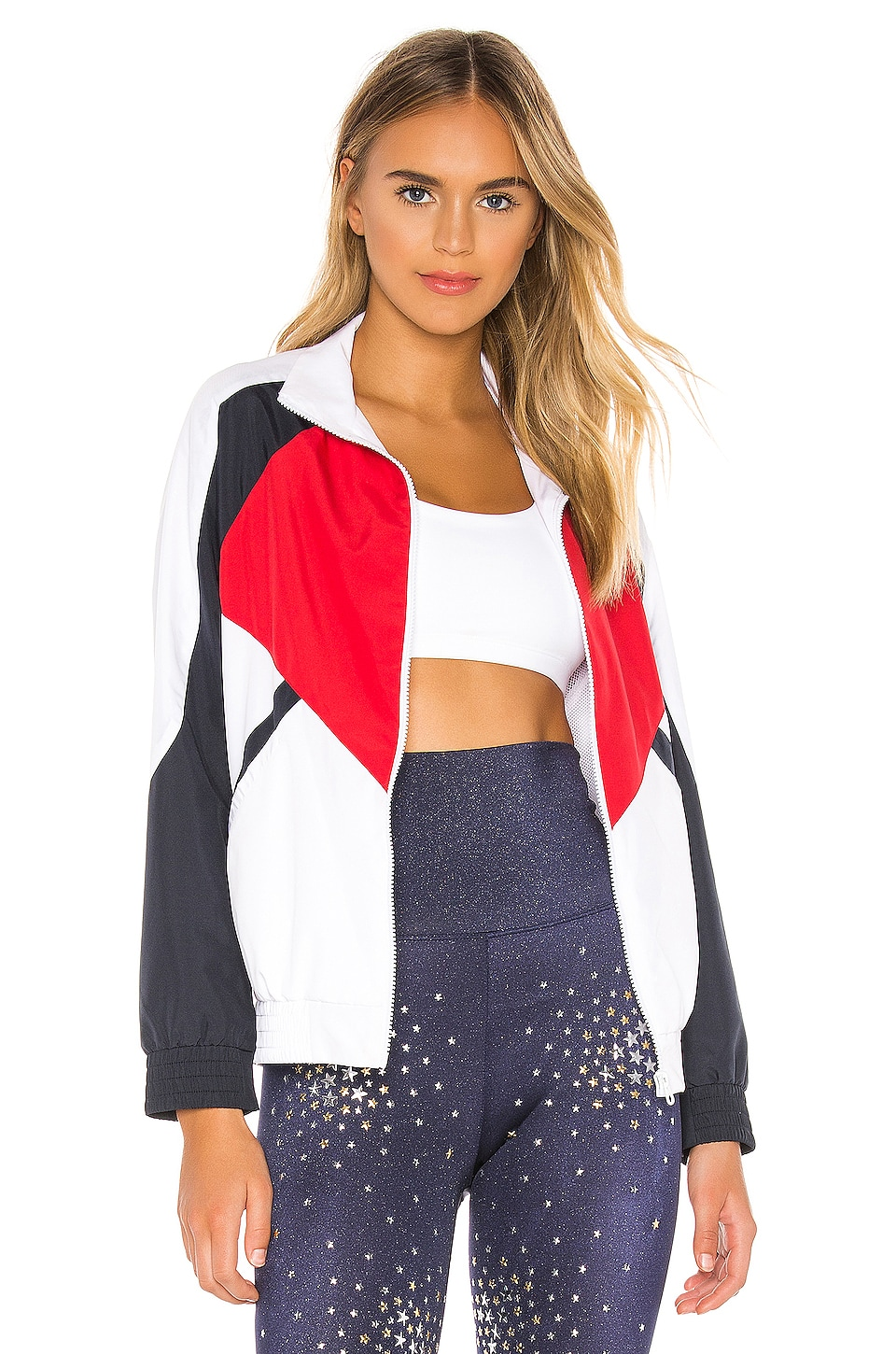 BEACH RIOT Jacket in Red, White & Blue