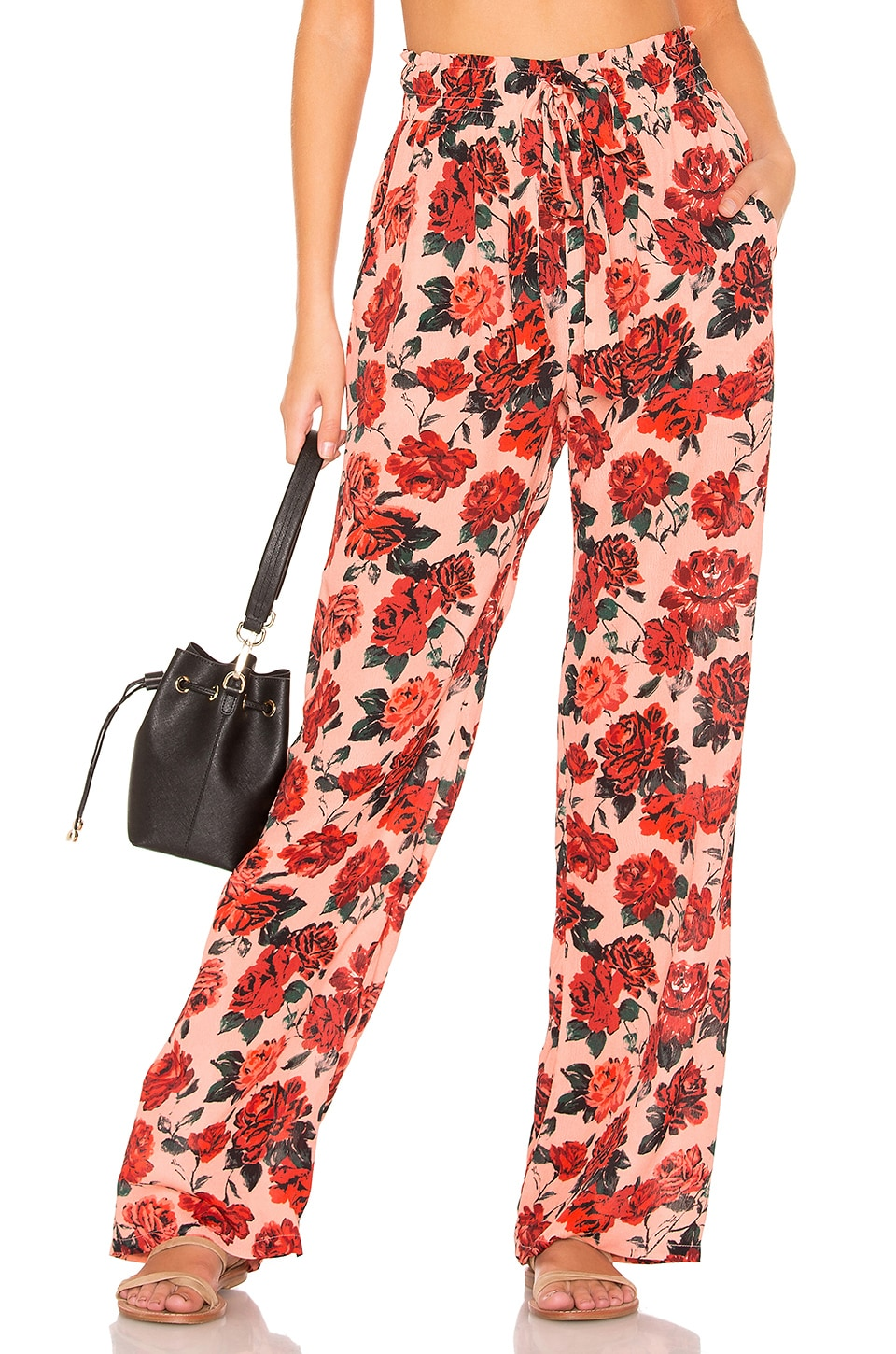 BEACH RIOT Harlow Pant in Rose