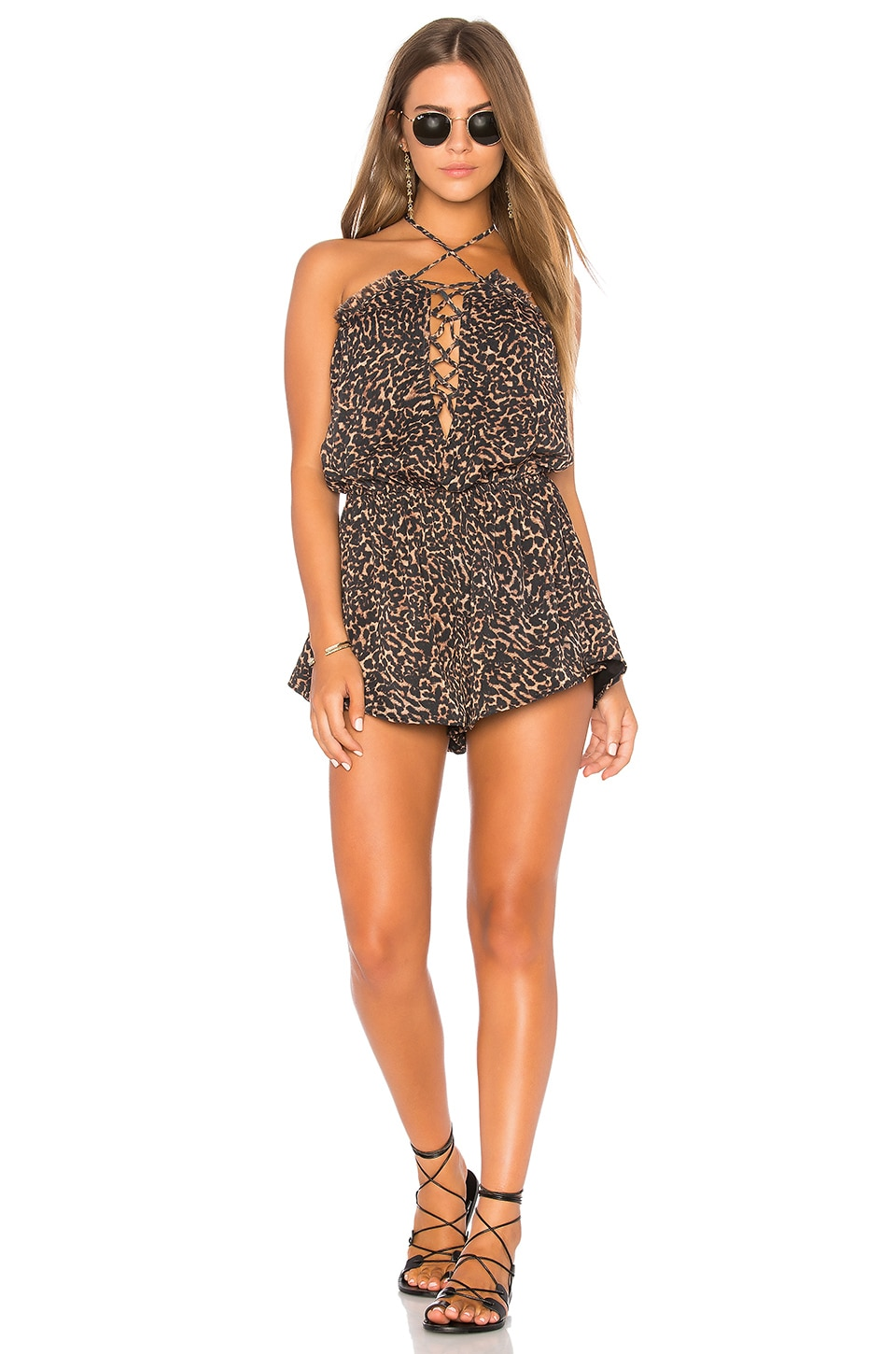 BEACH RIOT Kate Romper in Leopard