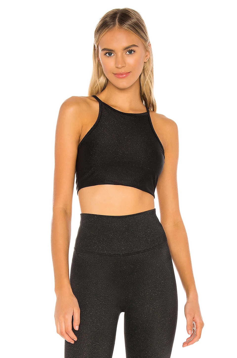 BEACH RIOT Anna Shine Tank in Black