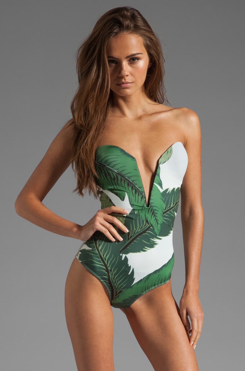 BEACH RIOT // STONE_COLD_FOX Gally Cook One Piece in Palm Print