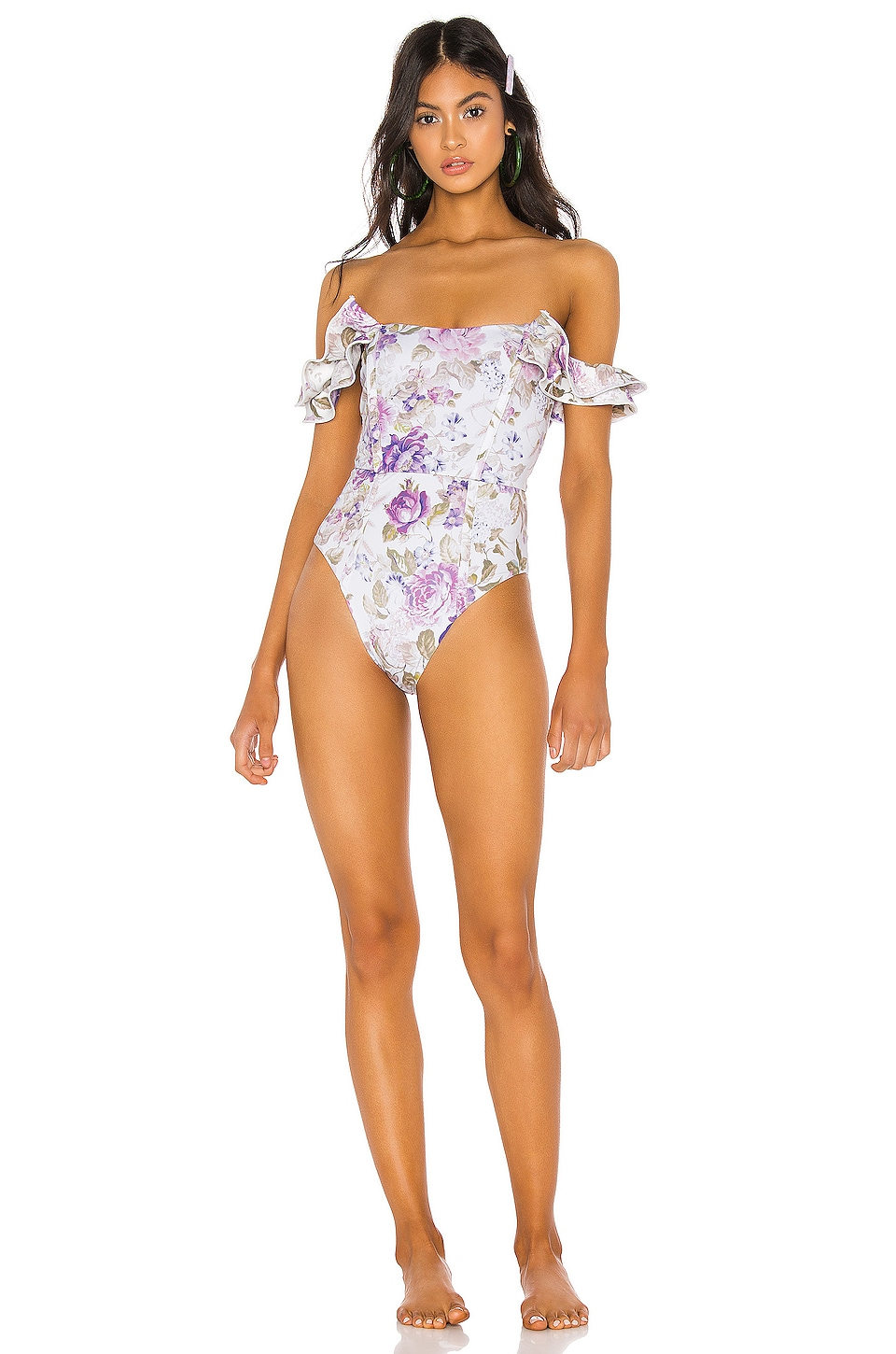 BEACH RIOT x V. Chapman Arbor One Piece in Floral Print