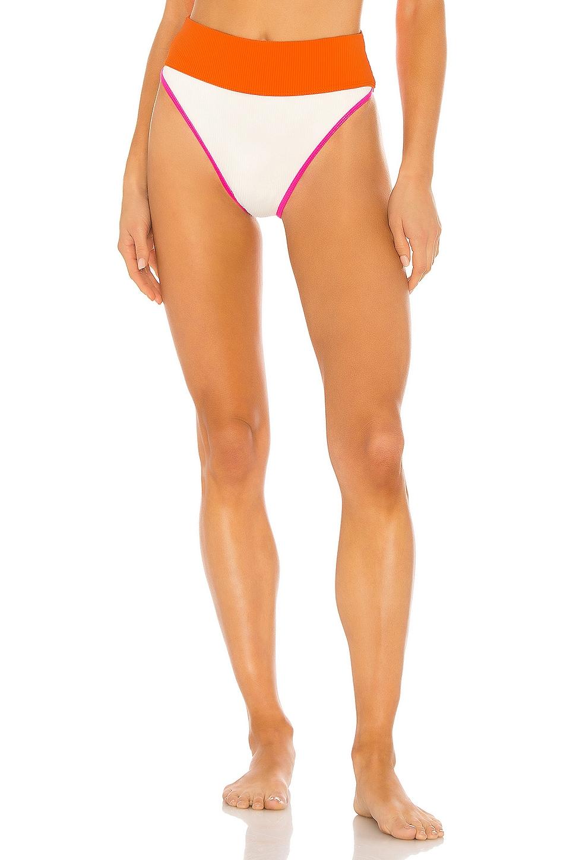 BEACH RIOT X REVOLVE Emmy Bikini Bottom in Orange, Pink & White