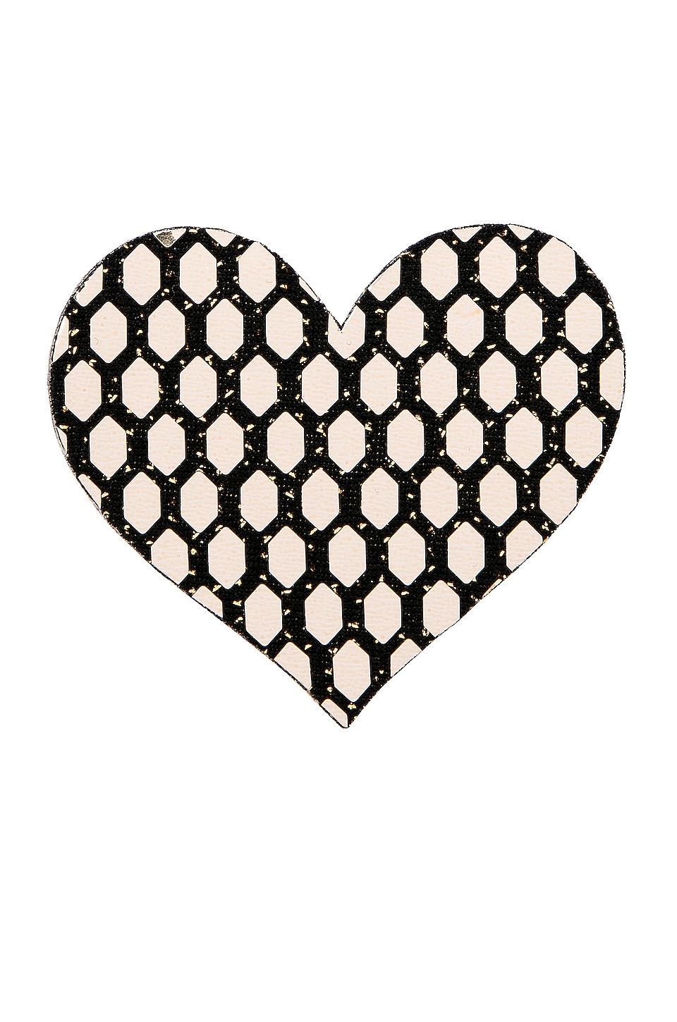 Bristols6 Flash Dance Heart Reusable Nippies in Gold