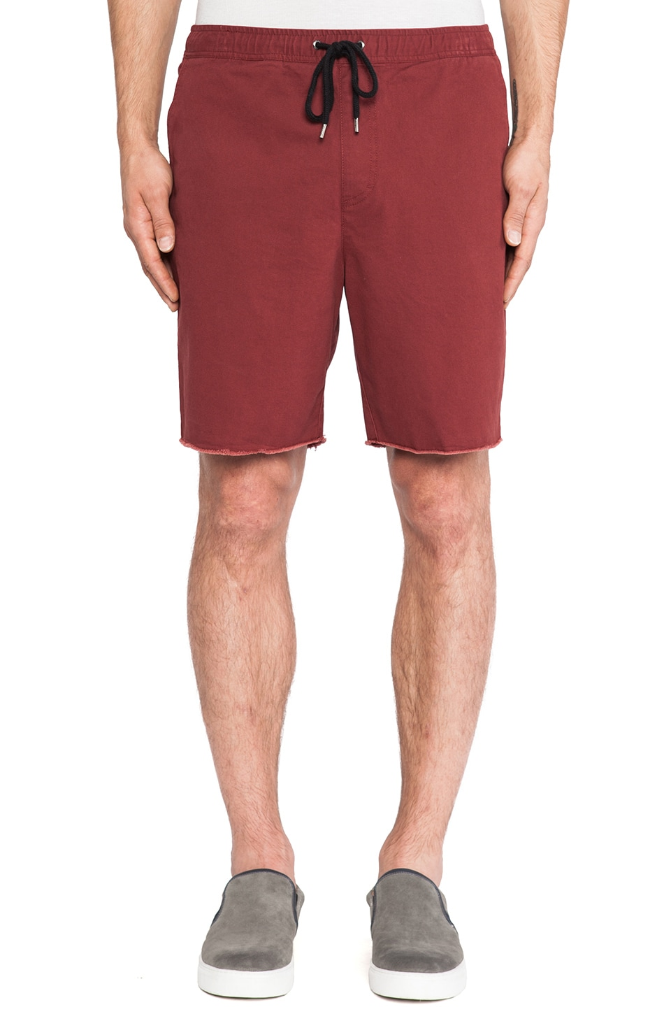 Brixton Madrid Short in Burgundy