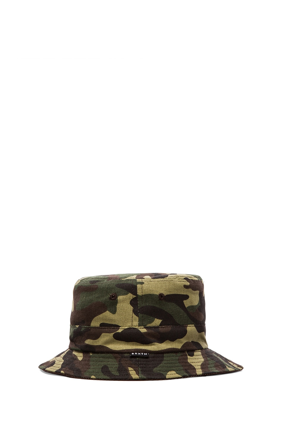 Brixton Tull Reversible Bucket Hat in Brown/ Camo