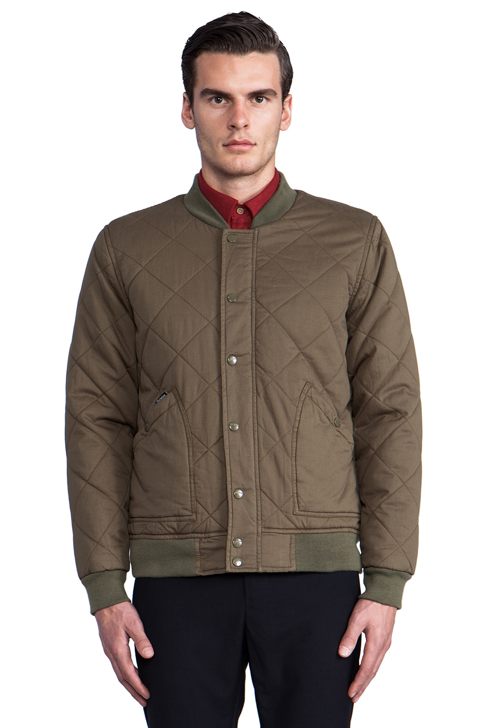 Brixton Ace Jacket in Olive
