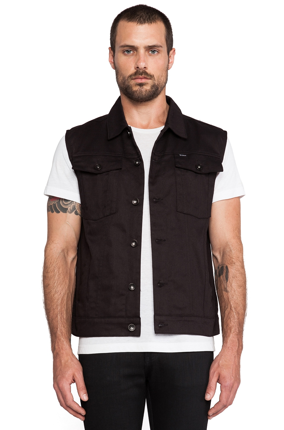 Brixton Curtis Vest in Black