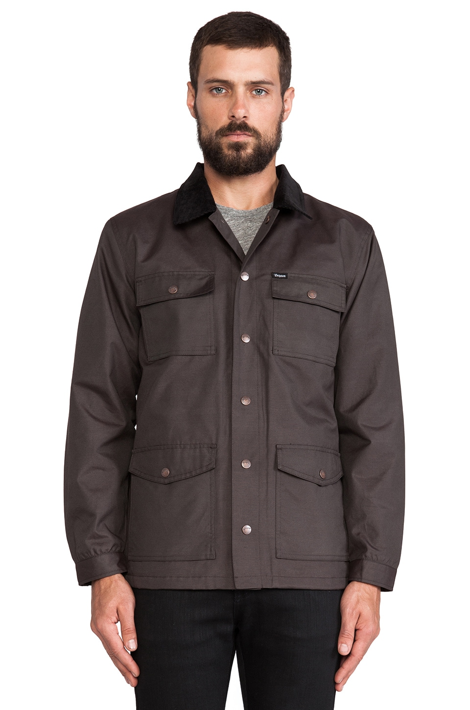 Brixton Troubadour II Jacket in Washed Black