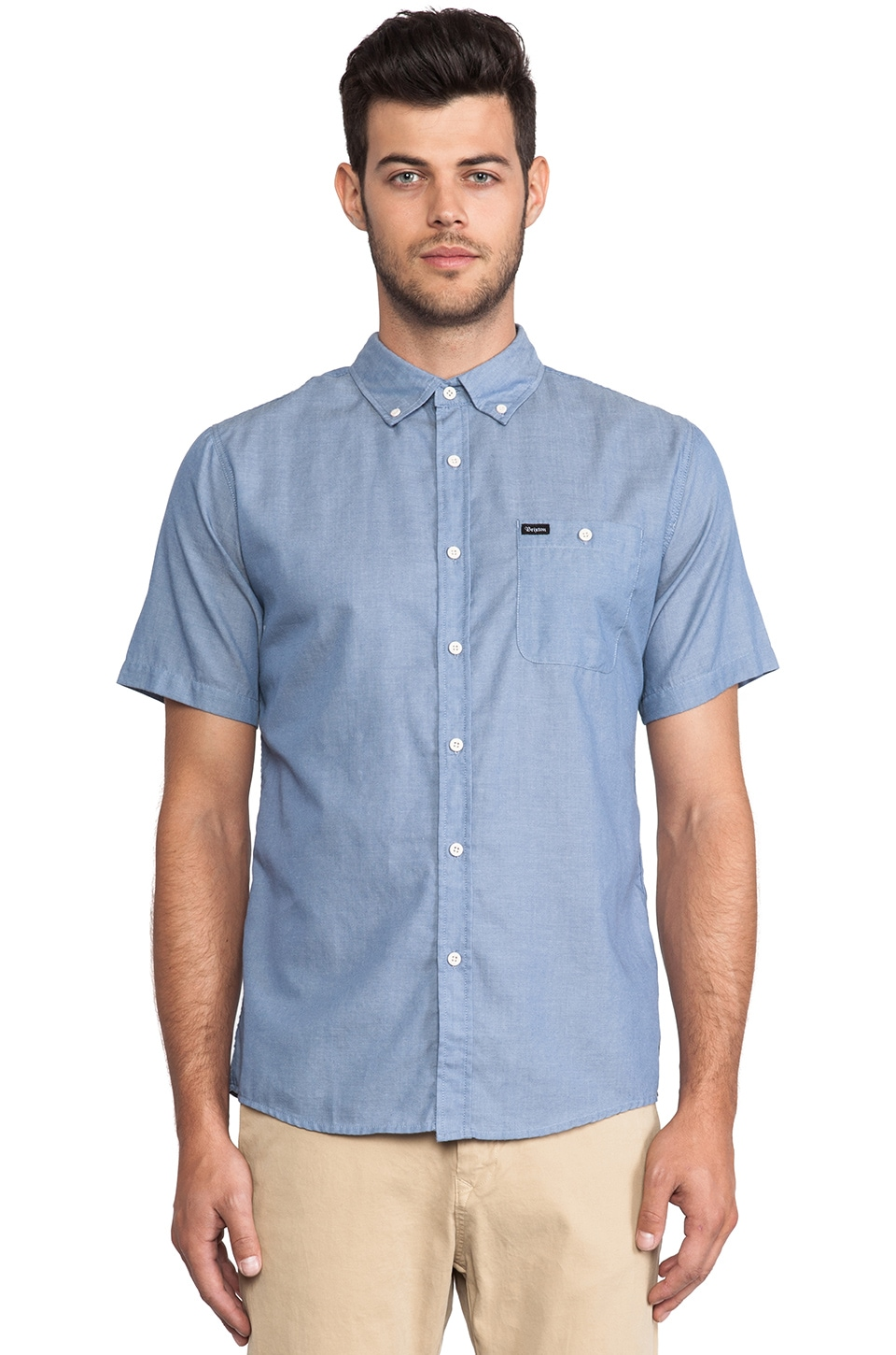 Brixton Central Shirt in Blue