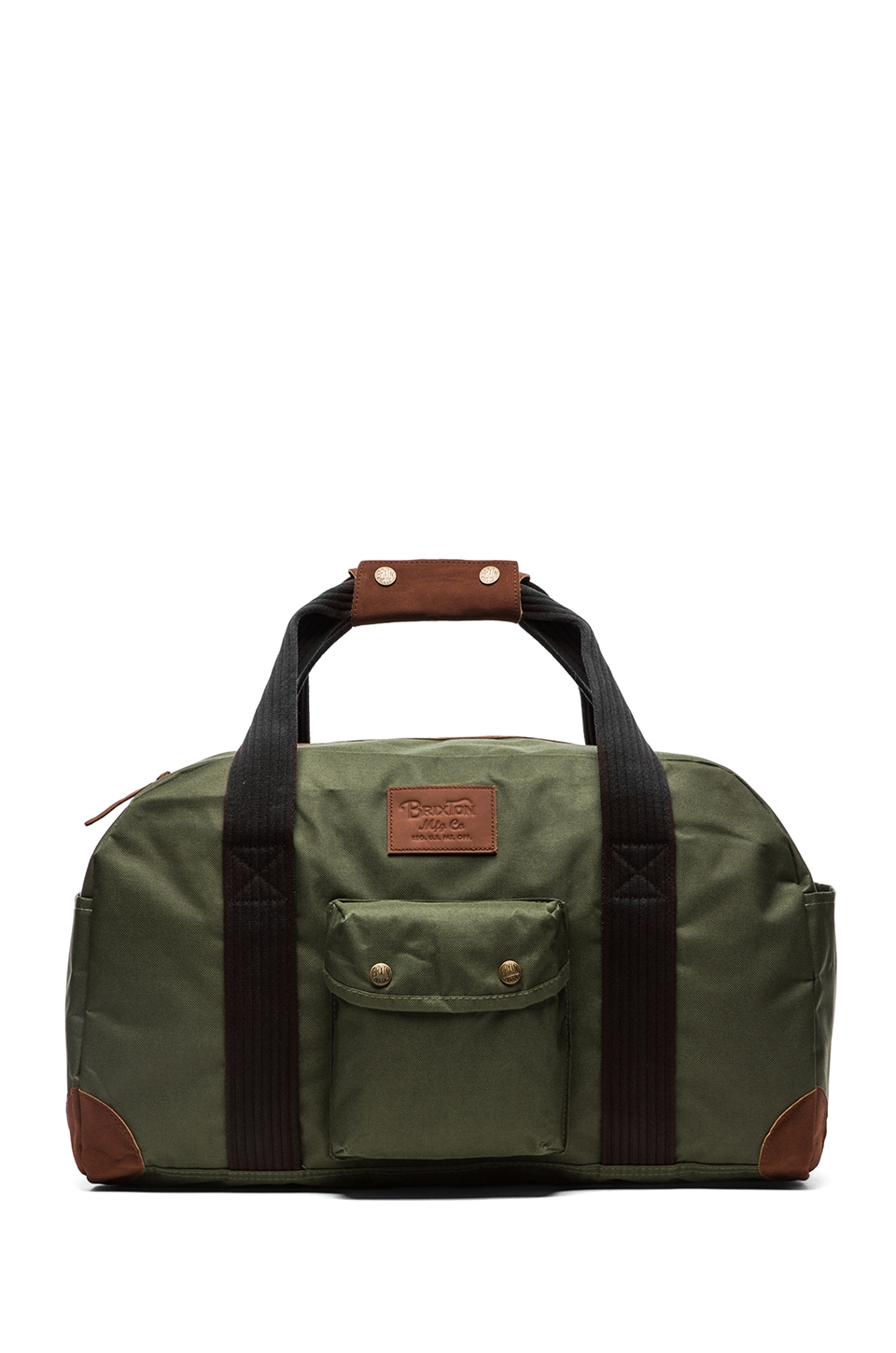 Brixton Vagrant Duffle Bag in Dark Olive