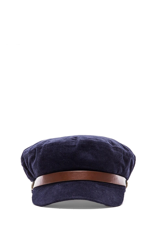 Brixton Fiddler Cap in Blue &  Navy